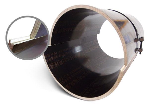 木质圆模板凹凸槽设计图